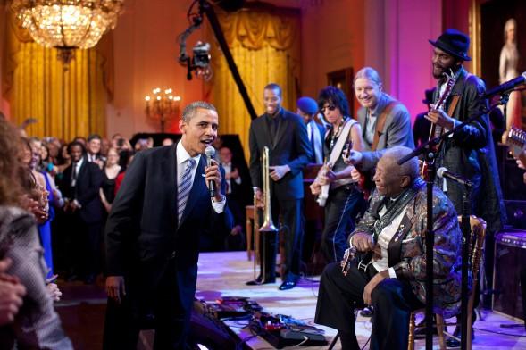 President Obama and B.B King