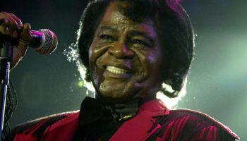 US soul legend James Brown performs on s