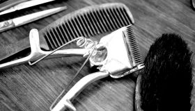 Close-Up Of Tools Of Hair Dresser