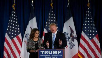 Donald Trump Makes Campaign Swing Through Iowa