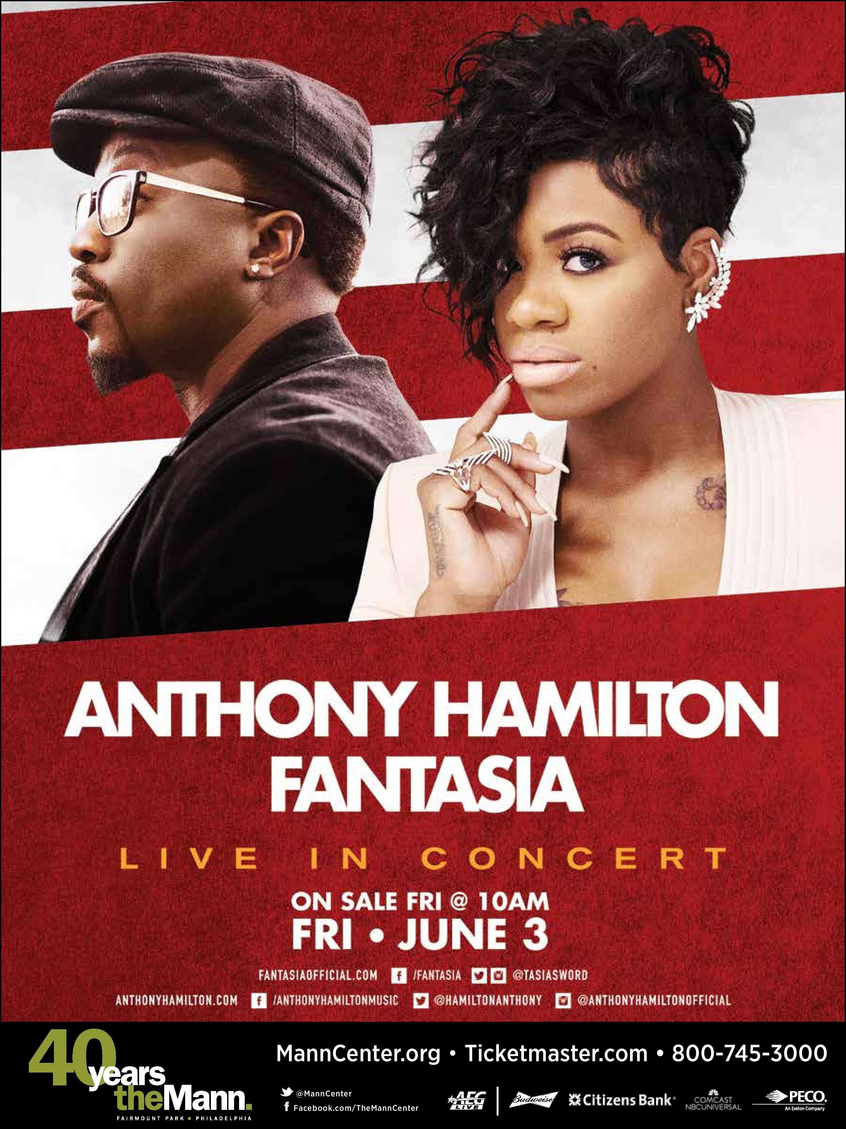Anthony Hamilton and Fantasia Philadelphia