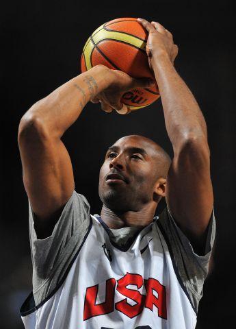 Kobe Bryant of the US Olympic basketball