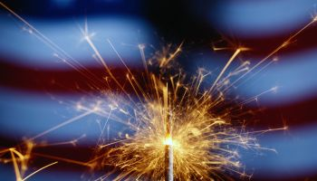 Sparkler with American Flag