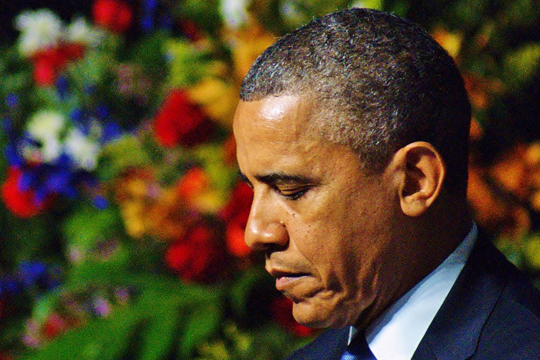 Barack Obama bei der Trauerfeier für die Toten der Explosion in West (USA / Texas)