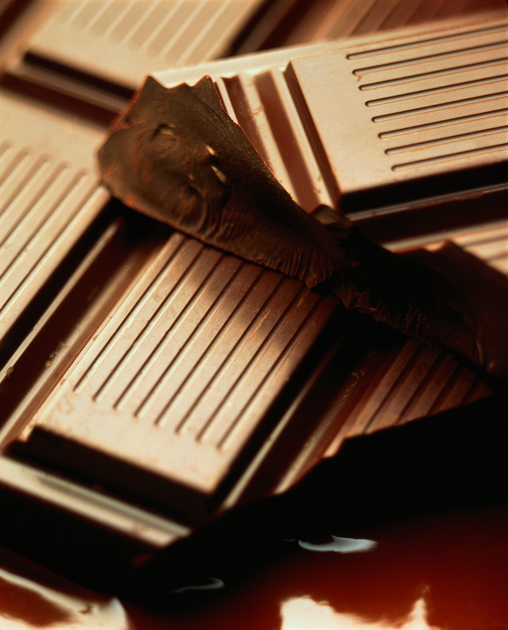 Chocolate bar, close-up