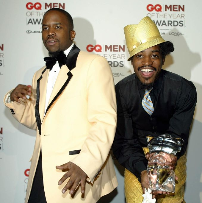 Members of the band Outkast poses for photographer