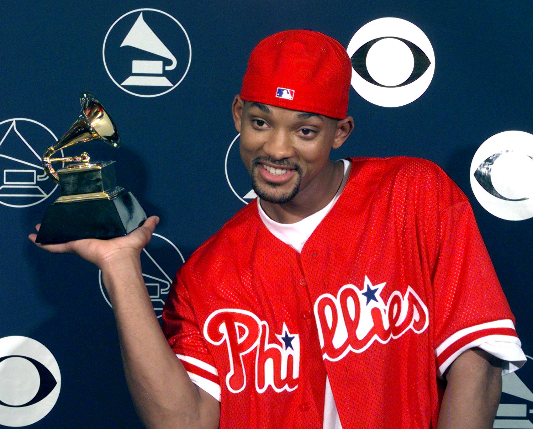 Will Smith holds his Grammy Award 25 February in N