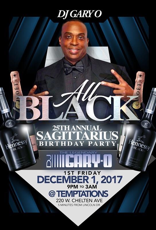 Gary O All Black Sagittarius Birthday Party