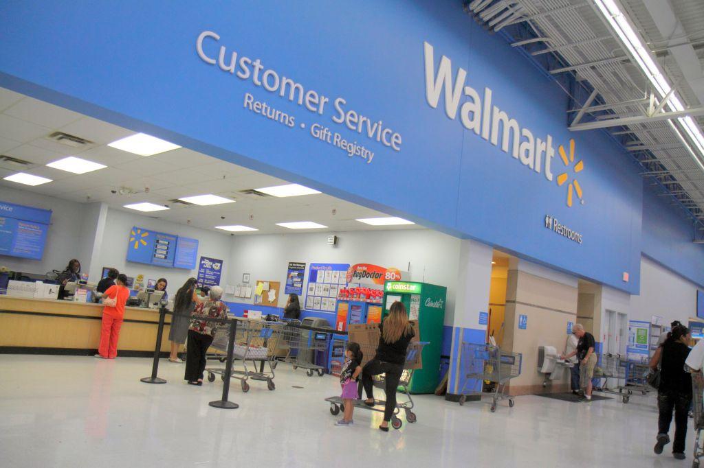 Walmart Customer Service desk.