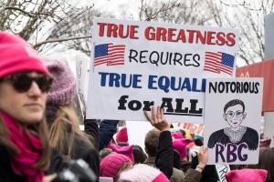 Demonstrators At Women's March on Washington