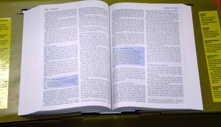 The Bible opened on a table