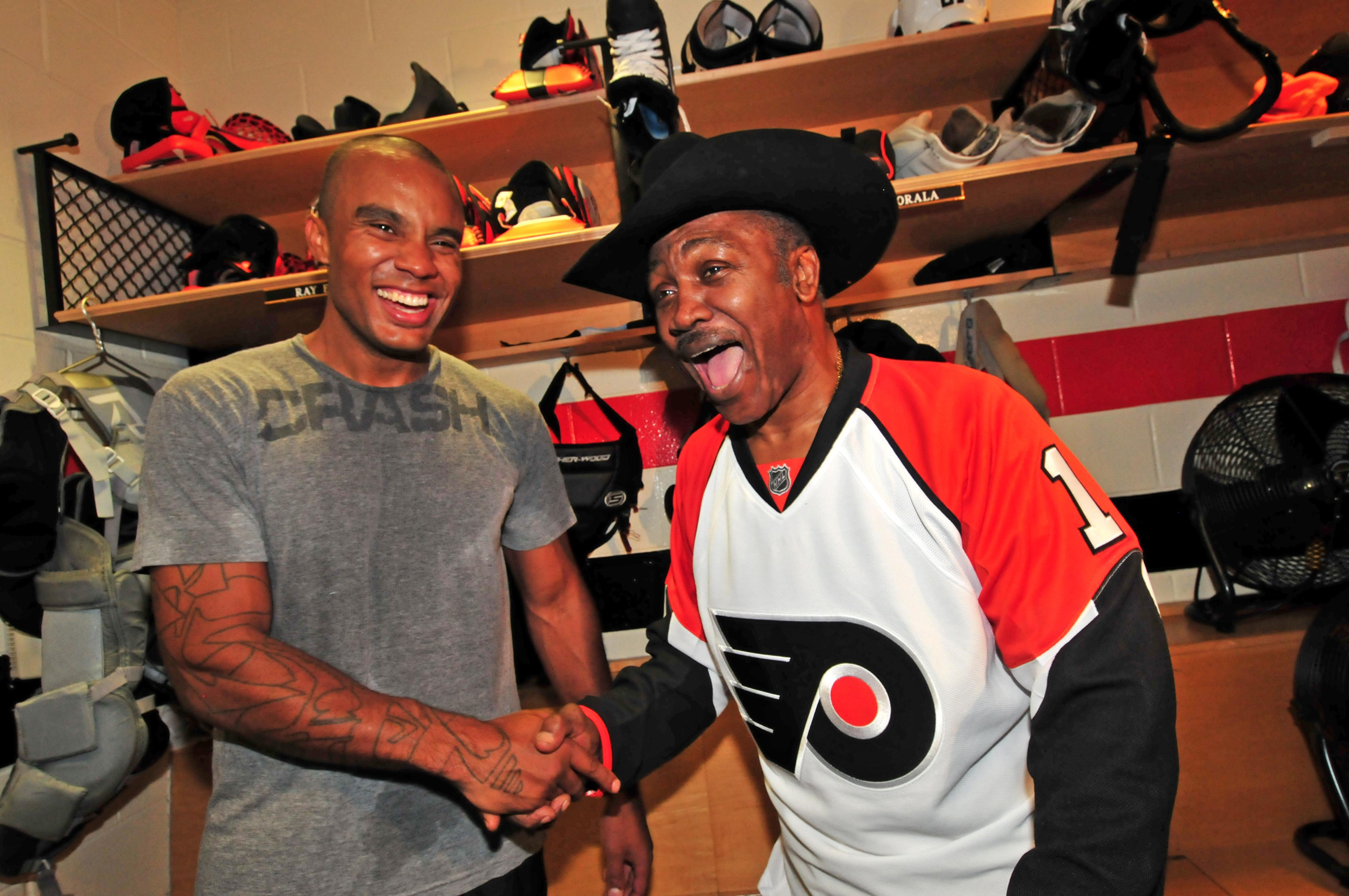 Philadelphia Flyers Ray Emery/Champ Joe Frazier