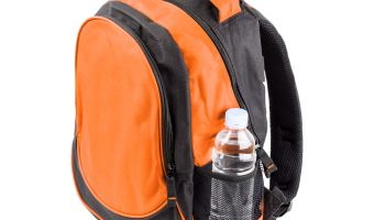 Orange school backpack