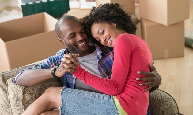 Black Couple Moving