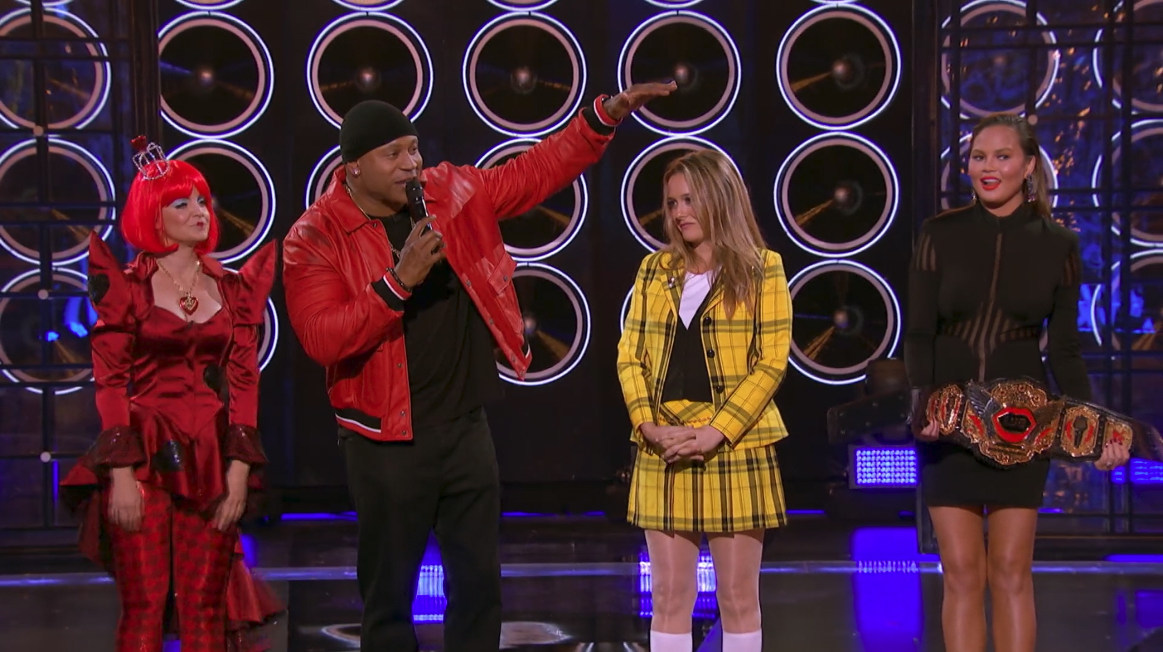 Alicia Silverstone vs. Mena Suvari during and appearance of 'Lip Sync Battle' as seen on Paramount Network.
