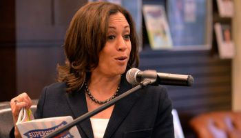 Kamala Harris Signs Copies Of Her New Book 'Superheros Are Everywhere'