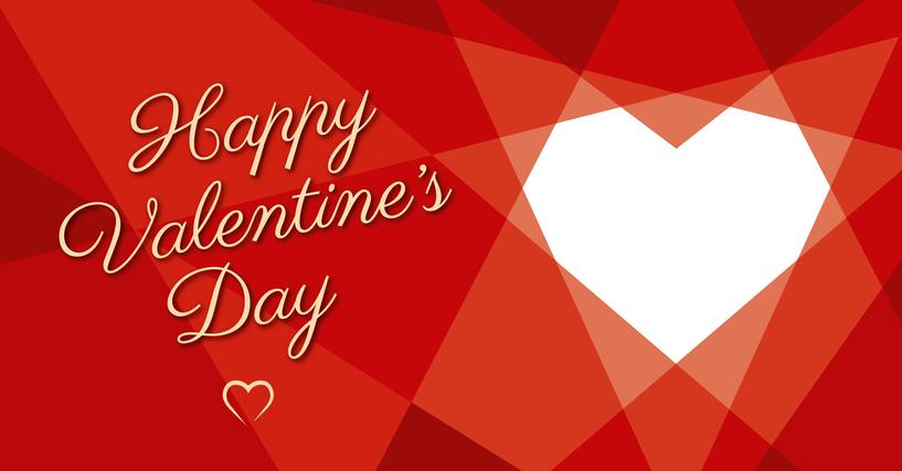 Valentine's Day Geometric Heart