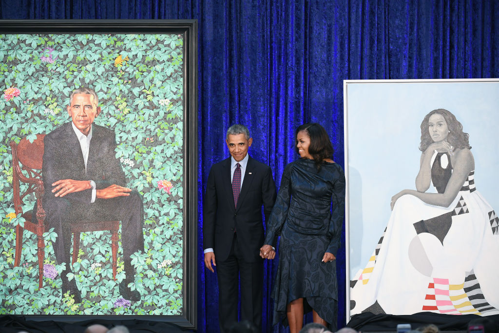 President Barack Obama and First Lady Michelle Obama Portraits - Washington, DC