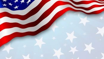 American flag, patriotic background.