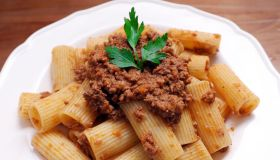 Beef ragu with rigatoni pasta from The Pasta Place in Sheung Wan. 20MAY14[29MAY2014 48HRs RESTAURANT REVIEW]