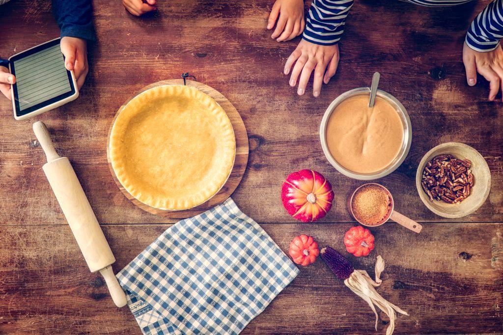 Preparing Homemade Pumpking Pie for the Holidays