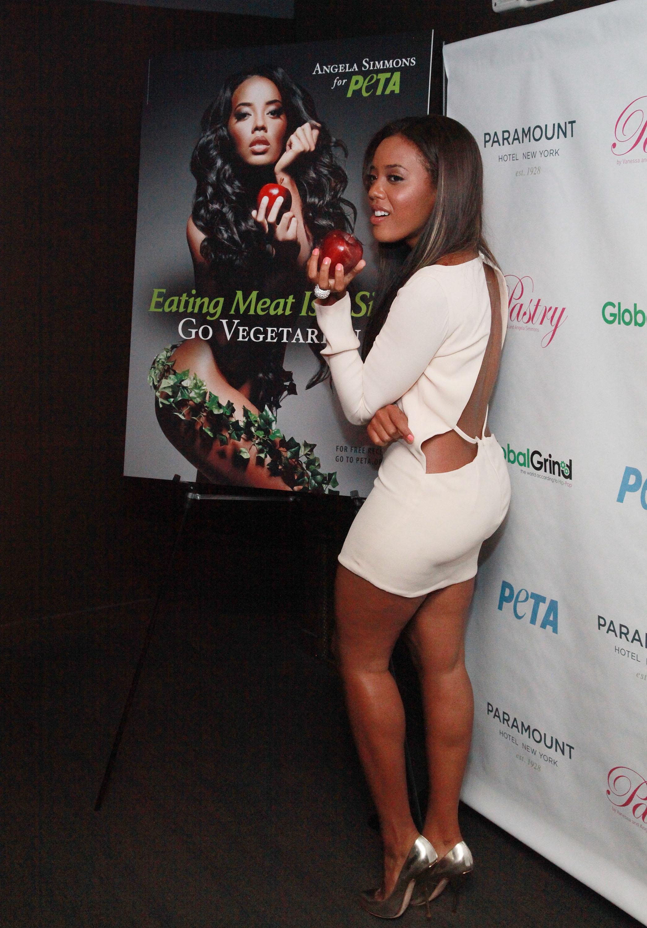 Angela Simmons' PETA Campaign Unveiling