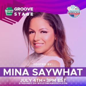 Mina SayWhat Wawa hosting welcome america