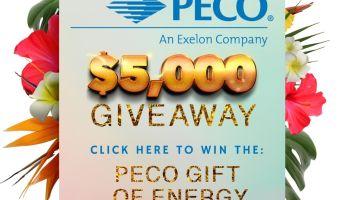 Peco Giveaway $5,000 Gift of energy