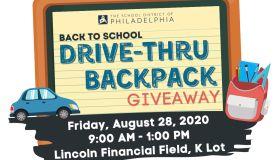 Back To School Drive Thru Backpack Giveaway